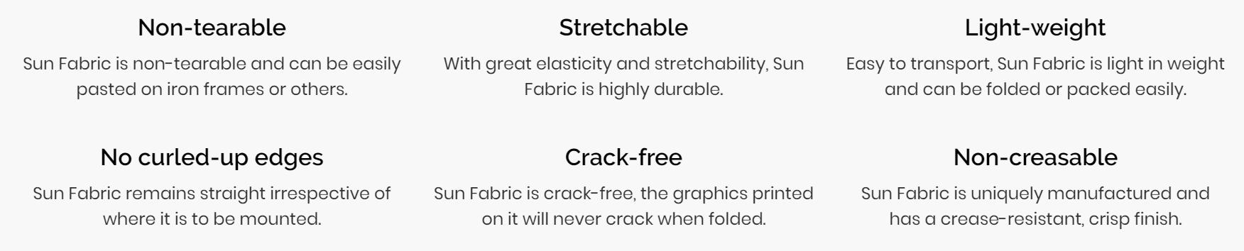 Sun Fabric Printable Fabrics