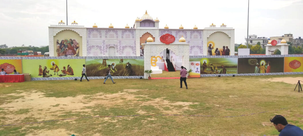 Prakash Diwas Event Hall created using Sun Fabric's eco-friendly printable canvas