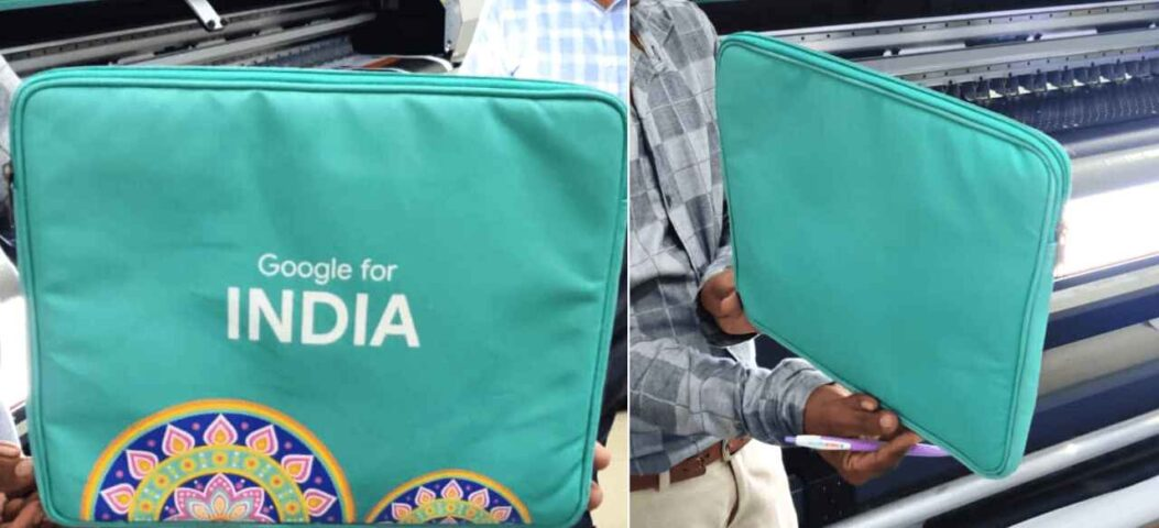 Laptop Bag Created for Google India using Latex printing on PC 235