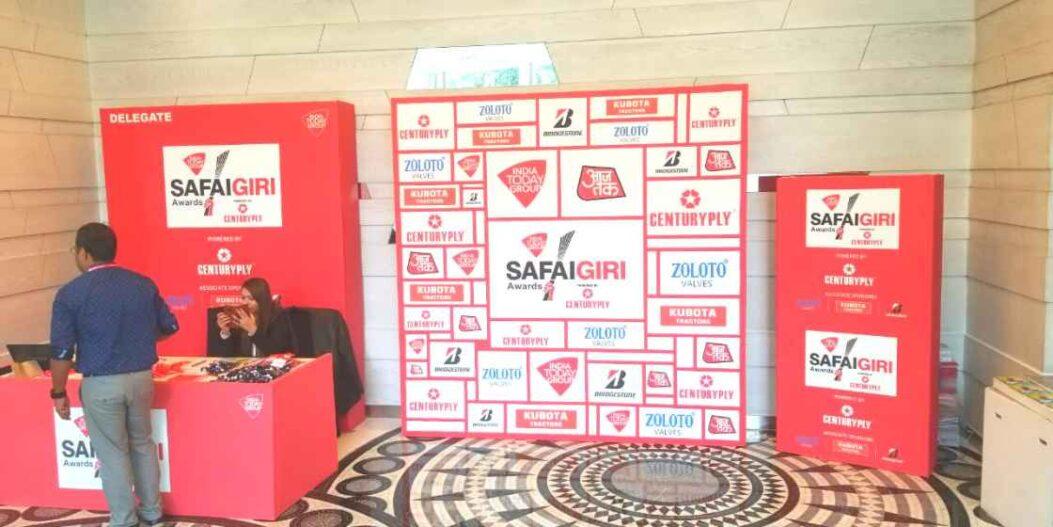 SafaiGiri 2019 Backdrops made using ecofriendly flex